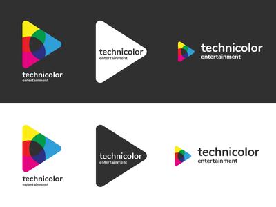 Technicolor Entertainment Logo & Branding Blacksburg, VA