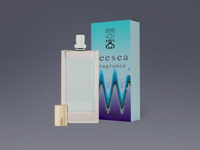 Seesea Fragrance Packaging branding design product designer mockup illustration graphicdesigns packagingdesign packaging fragrance packaging fragrance