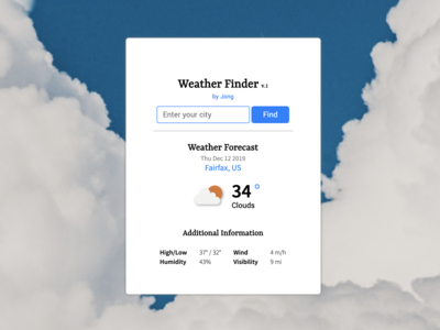 Weather Finder