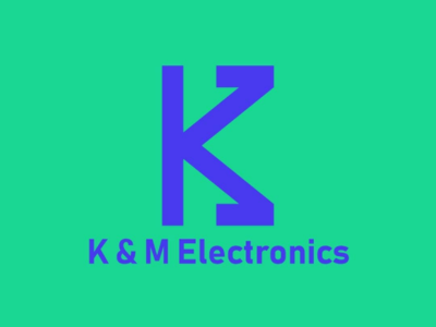 K & M Electronics logo logocreation brandsign brandlogo brand logotype logowork logodesign logo
