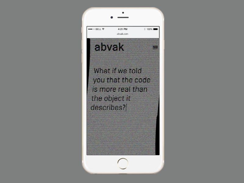 Abvak animation glitch storytelling concept front end design ui