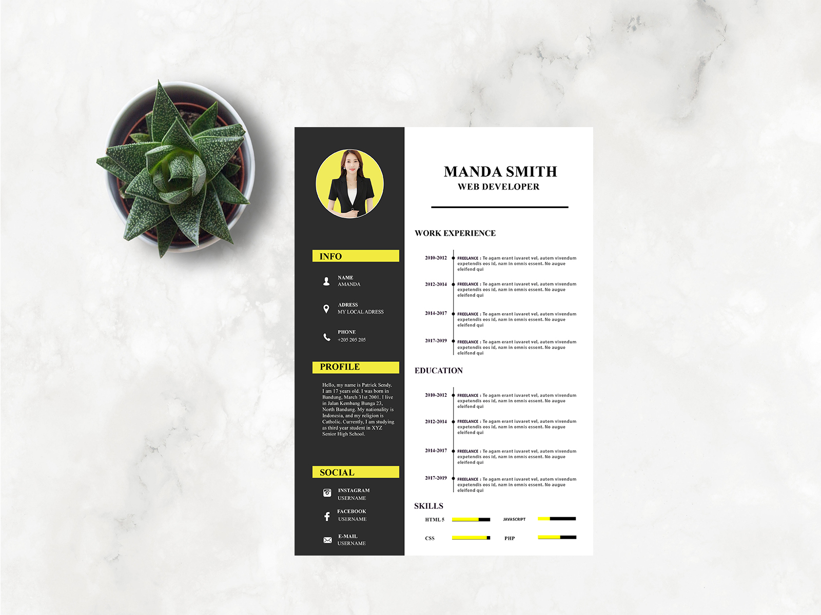 Resume Cv By Resume Studio On Dribbble