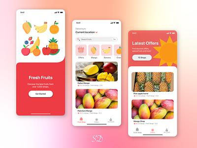 Fresh Fruit ecommerce fruit app app ux ui design
