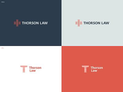 Thorson Law Logo Redesign affinity designer medical personal injury lawyer logodesign logo brand identity logo redesign