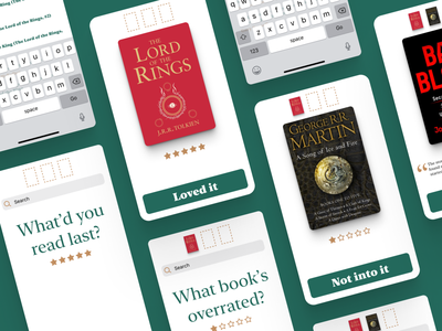 Innovative Book Recommendations real data data goodreads ux reviews recommendations books hackfest mobile ui