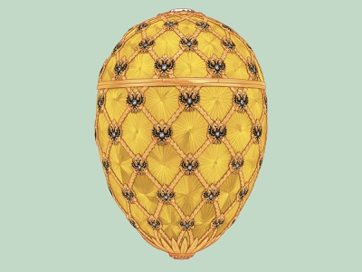 The Coronation Egg illustration jewellery