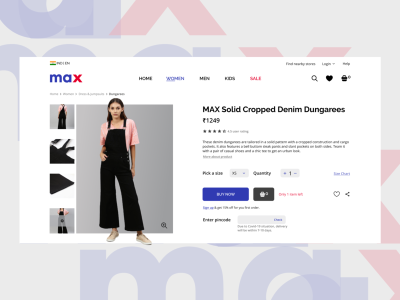 E-commerce Product page design figma