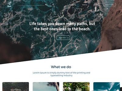 Resort web ui design