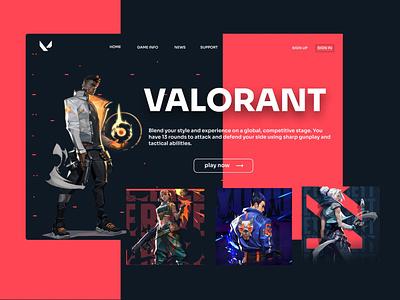 Valorant web game valorant design ui