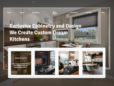 Kitchen Counter-top ux ui web design