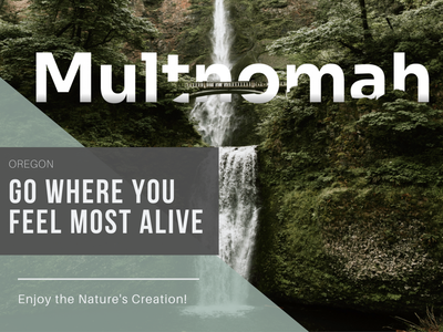 Multnomah waterfall oregon waterfall travel scenery figmadesign enjoy the moment beautiful adventure time adventure ux web ui design
