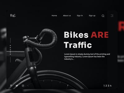 Bicycle web design bicycling bicycle shop bicycle enjoy the moment travel figmadesign ux web ui design