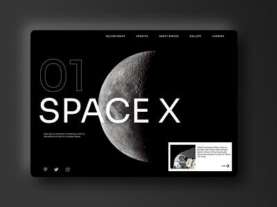 Space x spacewebdesign spacewebdesign space spacex figmadesign ux design ui web