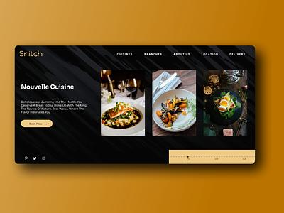 Fine Dining Webpage simple design finedining figmadesign ux web ui design