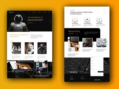 AI web design enjoy the moment aiwebdesign ai figmadesign ux web ui design