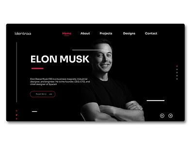 Portfolio Web Design uxdesigns ux  ui uxdesigner uiux elon musk web design elon musk elonmusk figma designers figma enjoy the moment figmadesign ux web ui design