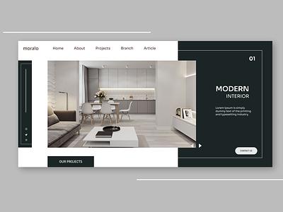 Architecture Web Design beautiful enjoy the moment figmadesign ux web ui design