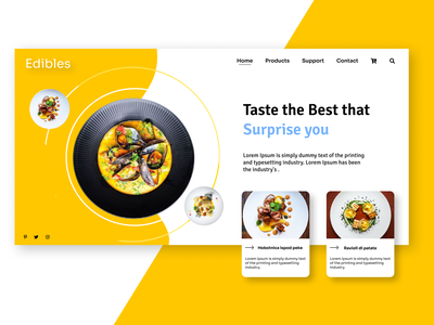 Food Web Design shopping shopping cart beautiful enjoy the moment restaurant design restaurant foodie food and drink figma food figmadesign ux web ui design