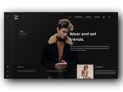 Fashion Web Design fashion brand fashion figmadesigner fashion design illustration uiuxdesigner figma uiuxdesign figmadesign ux web ui design