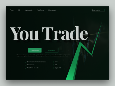 Trading Site - Landing page concept designinspiration italian figma interactiondesign uxinspiration uiinspiration website graphicdesign interface uidesigner uxdesigner uxui uxdesign uidesign userexperience userinterface design ux ui webdesign