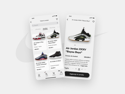 Nike Shopping App - Redesign concept interfacedesign ux uiux uiinspirations uxinspiration nike appdesign app uxdesign uxdesigner uiinspiration uidesigner uidesign ui italian interface interactiondesign figma designinpiration design