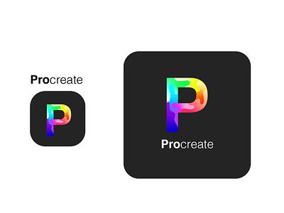 procreate logo  redesigned redesign procreateapp