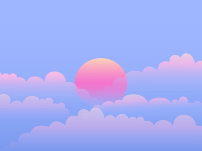 SUNSET sunset sky adobe illustrator illustration adobe 2021