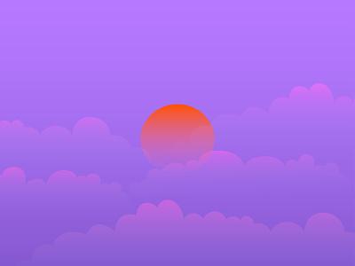 SUNSET | Variation 2 sunset sky adobe illustrator illustration 2021