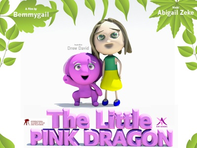 The Little Pink Dragon Poster 3d Animation movie poster movie film film school autodesk maya 3d model 3d animation animation the little pink dragon