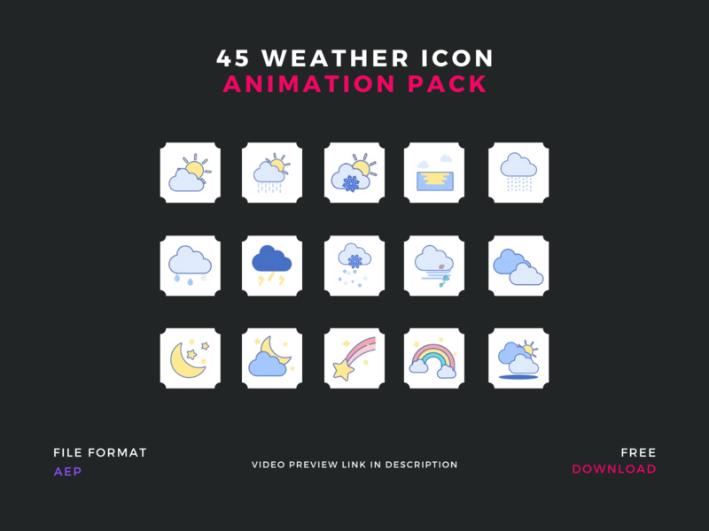 Weather Icons Animated Pack   Free Download wathericon flaticon iconanimation animation aep after effect aftereffects icondesign illustration icondownload freeicon iconpack iconset icon