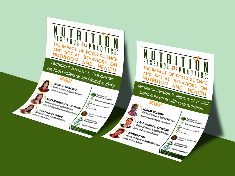 Nutrition Seminar Leaflets illustration design