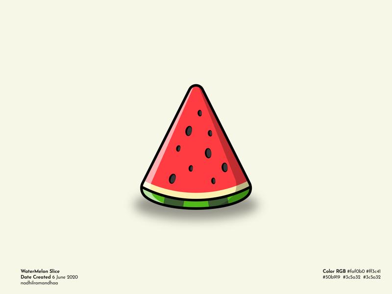 Slice of Watermelon red watermelon vector illustration vector art illustration art fruit illustration fruits fruit logo design icon design icon branding logo illustration flat vector design illustrator