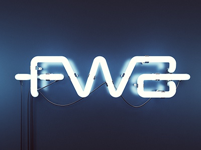 The FWA wallpaper 3D NEON design 3d fwa logo wallpaper neon blue typography
