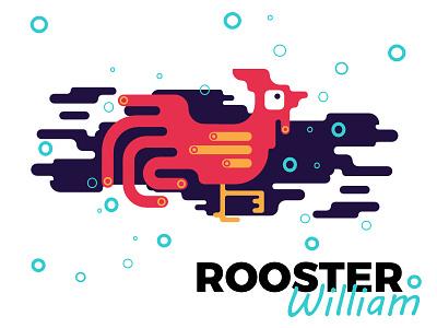Corner Creatures rooster simple affinity designer vector corner creatures