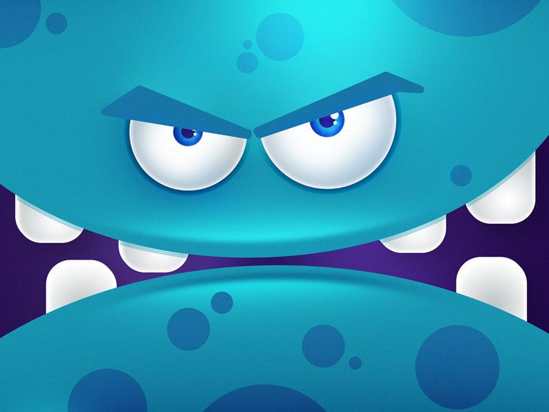 Monster 2d game doodleart illustration feszczuk designevryday design 365 vector graphic