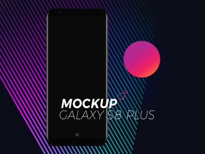 MockUP Galaxy s8 mobile black psd s8 galaxy mockup