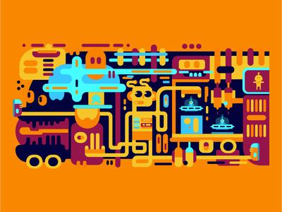 Doodle madeforfun funcolorsillustration feszczuk.com exhibitiondesian doodleart doodle design abstract