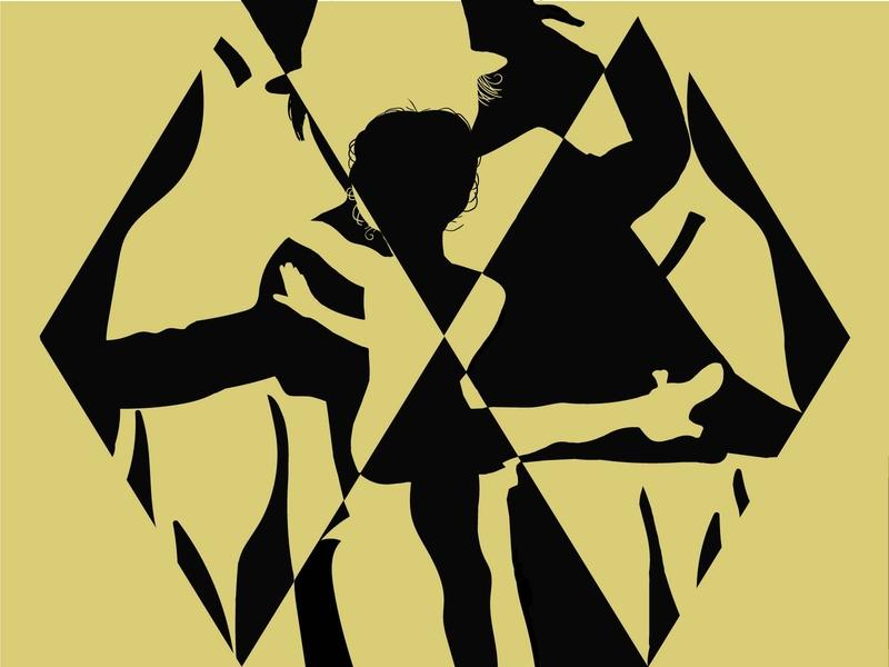 Dance flyer festival poster dancing dance flyer dance party program logodesign advertising people illustration passion partners print branding hobby dance school black ai illustration dance studio tango dance