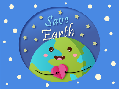 Save Earth 2021 2021 sky planet papercut save planet save earth earthy earth day earth print branding dribbbleweeklywarmup weeklywarmup adobe illustrator vector design illustration