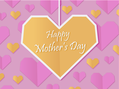 Mother's Day Pattern papercut heart mothers day mother card postcard typography adobe illustrator dribbbleweeklywarmup print design illustration weeklywarmup pattern design pattern art pattern