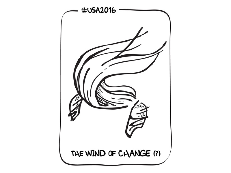 The Wind Of Change ? election 2016 trump illustration