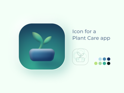 Icon for a Plant Care Application figma colour palette application icon vector mobile icon icon design icon design app mobile 005 dailyui 005 dailyui005 daily ui dailyui ui