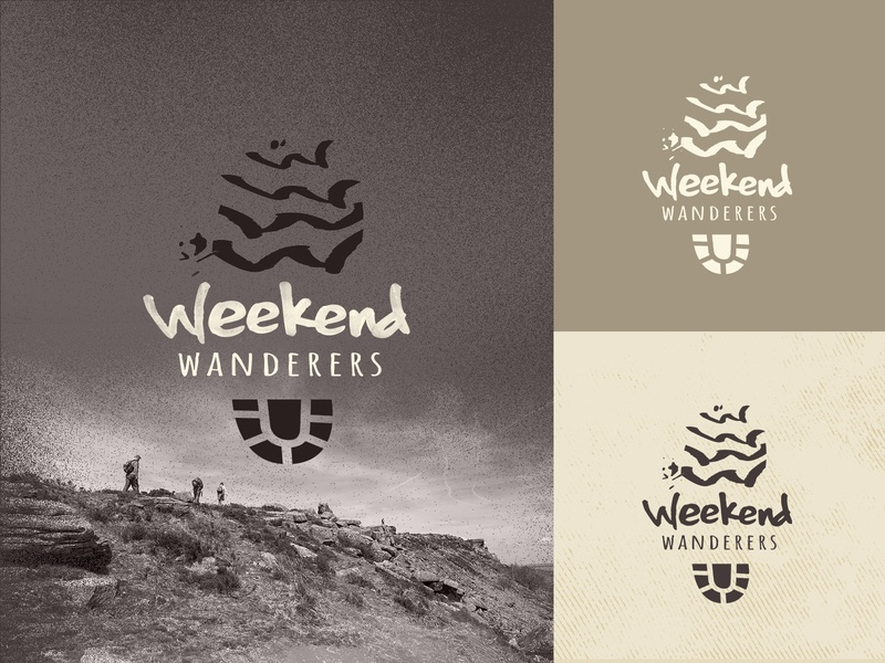 Weekend Wanderers - Logo Design & Website boots footprint great outdoors graphic design walking hiking logo web design logo design branding