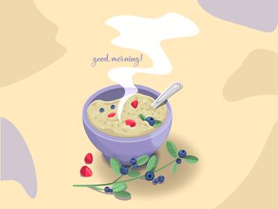 breakfast morning blueberries illustrator artwork food fruit icon vector art illustration illustration design