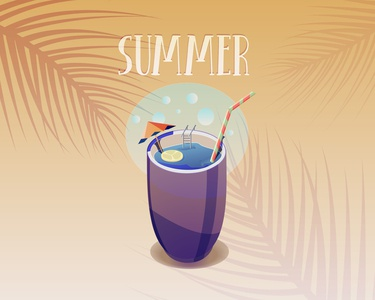 Summer drink summer party drink summer vector illustrator artist artwork art illustration illustration design