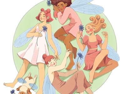 GIRL GANG - Fairies drawing art fairy procreateapp digital art painting digitalart procreate illustration