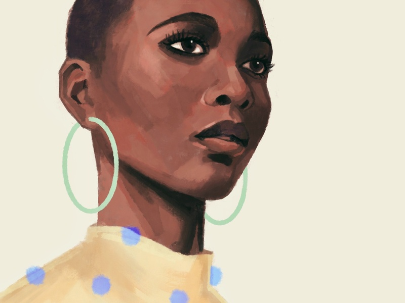 Study DOTS graphic portrait editorial illustration drawing procreateapp digital art painting digitalart procreate illustration