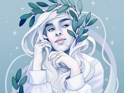 Winter editorial illustration art design drawing procreateapp painting digital art digitalart procreate illustration