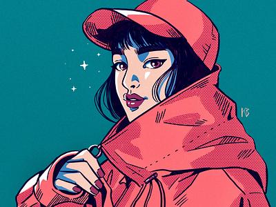 Halftone vintage retro halftone procreateapp painting digital art digitalart procreate illustration