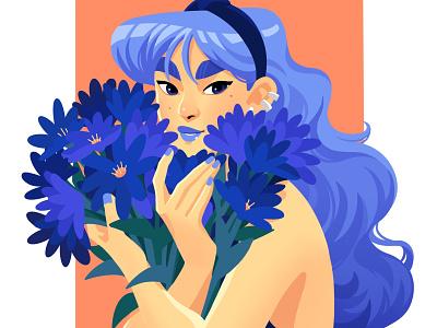 Blue Flower design art drawing procreateapp painting digital art digitalart procreate illustration